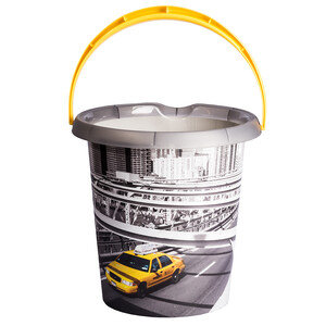Kbelík s dekorem London taxi, 12l, plast
