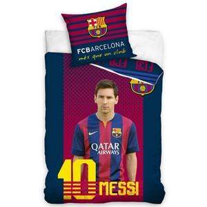 Bavlněné povlečení FC Barcelona Messi, 140 x 200 cm, 70 x 90 cm