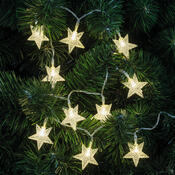 Lanț luminițe cu steluțe decorative, 10 LED-uri