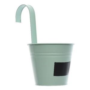 Závěsný květináč se štítkem zelená, pr. 14 cm