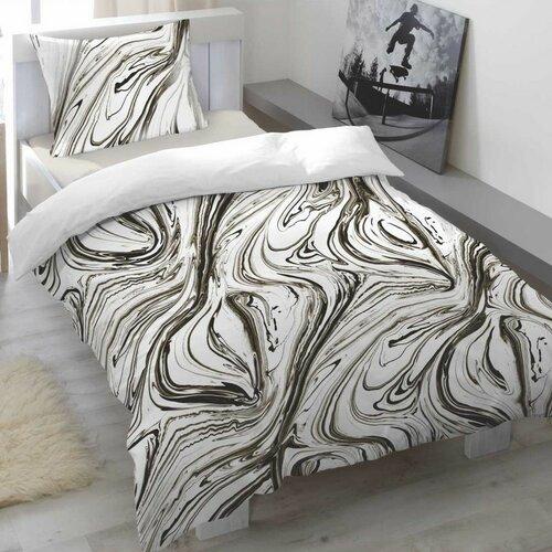 Saténové obliečky Marbelled Pewter, 140 x 200 cm, 70 x 90 cm