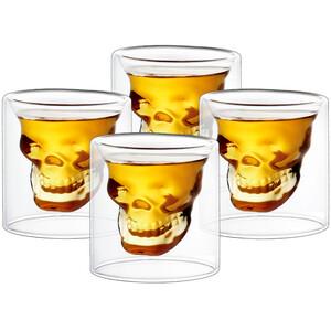 4home Panáky Skull Hot&Cool, 20 ml, 4 ks