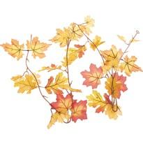 Podzimní girlanda z dubových a javorových listů, 180 cm