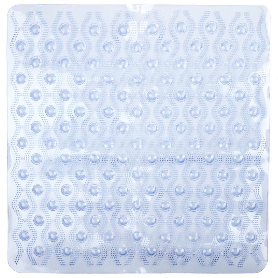 Koopman Protiskluzová podložka do koupelny Vlnka modrá 55x55