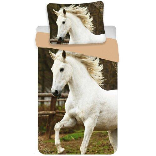 Jerry Fabrics Bavlněné povlečení White horse, 140 x 200 cm, 70 x 90 cm