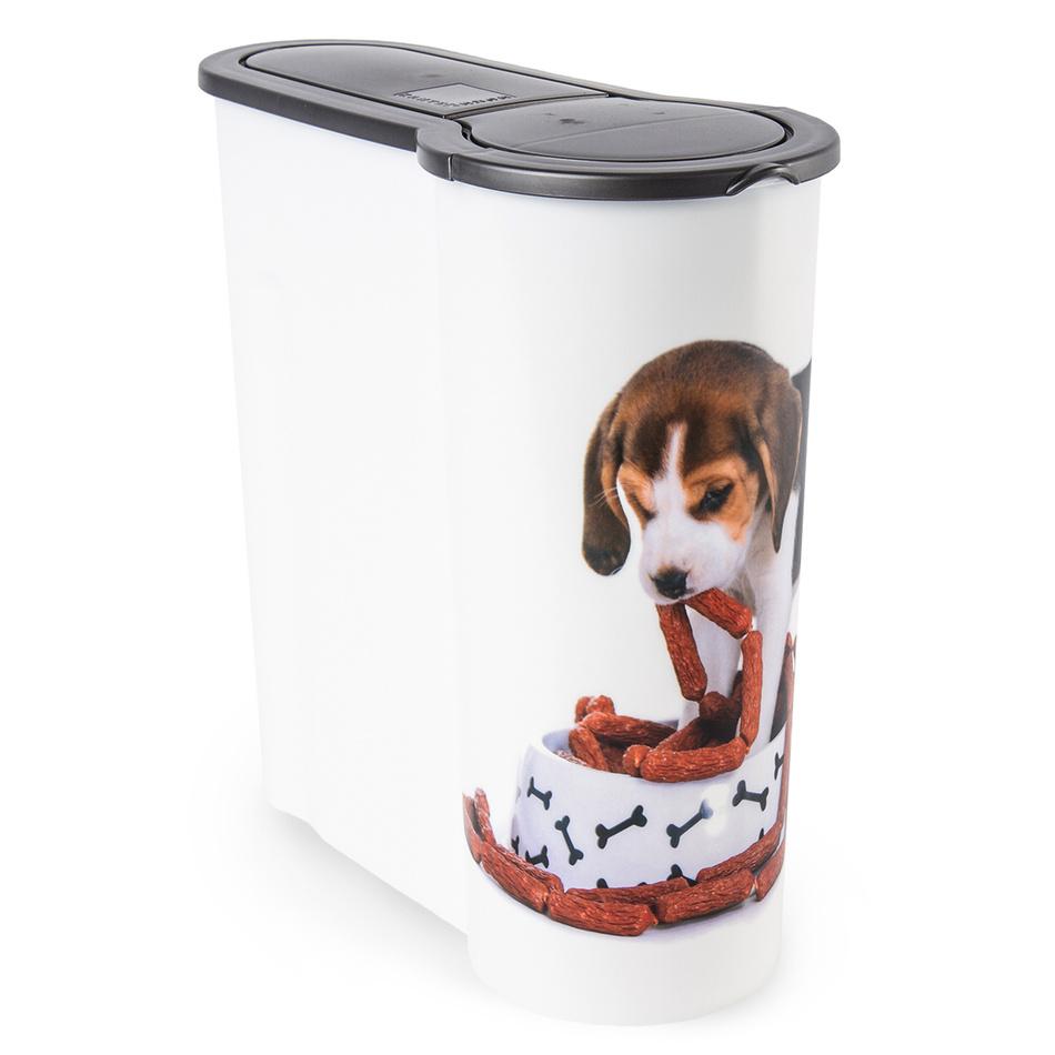 Dóza na krmivo pro psy Štěně, 4 l, plast