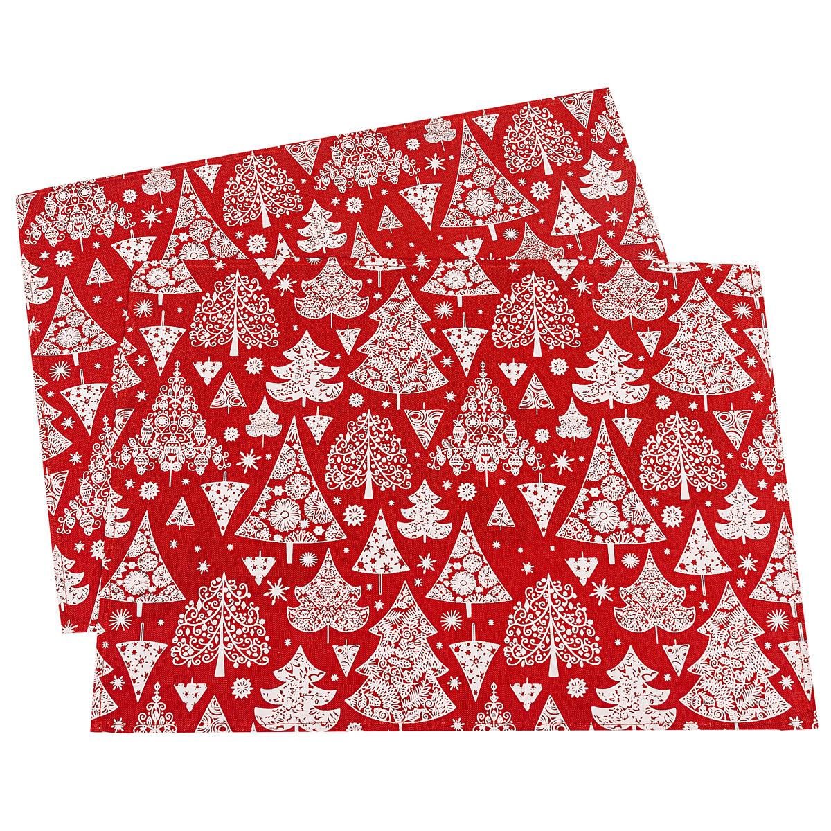 Dakls Vánoční prostírání Stromeček červená, 32 x 45 cm, sada 2 ks