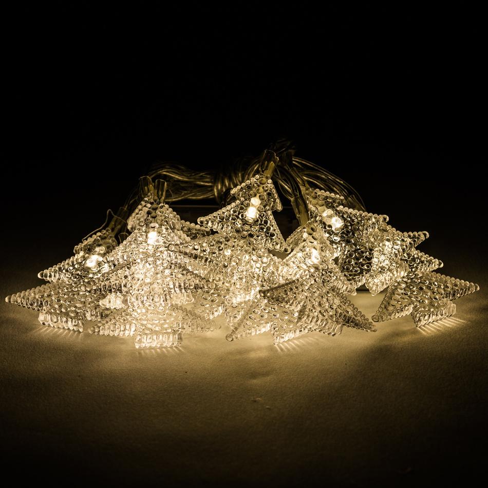 Světelný řetěz s ozdobnými stromky, 10 LED