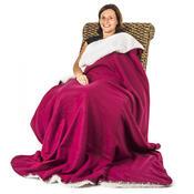 4Home Beránková deka vínová, 150 x 200 cm