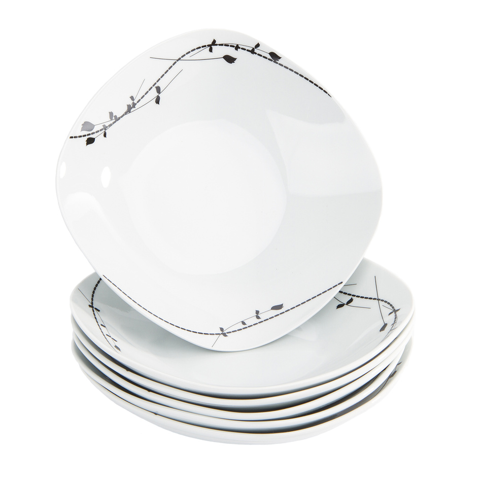 Domestic 6-dielna sada hlbokých tanierov Londra, 21,5 cm