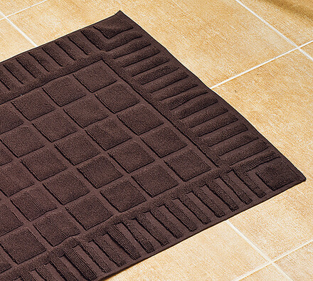 Koupelnová předložka hnědá, 50 x 70 cm, hnědá, 50 x 70 cm