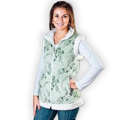 Dámská vesta, zelená, M