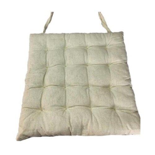 Csíkos steppelt ülőke, szürke, 40 x 40 cm