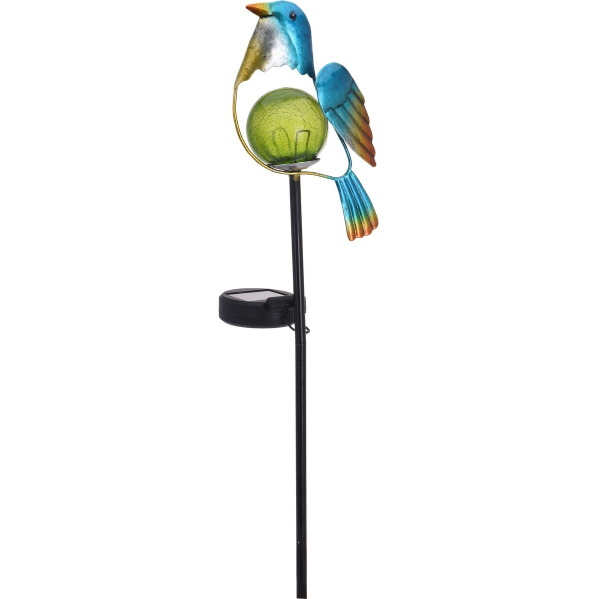 Solární lampa Bird modrá, 13 x 6 x 52 cm