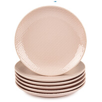 Orion Sada dezertních talířů Relief pr. 21 cm, růžová, 6 ks