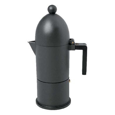 Kávovar La Cupola 150 ml černý, 3 šálky