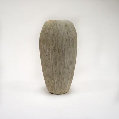 Váza keramická, šedá