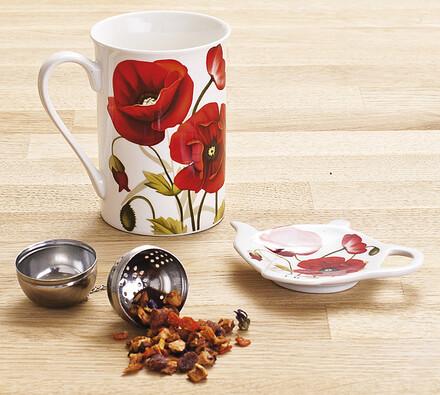 3 dílná čajová sada Máky