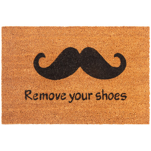 Kokosová rohožka Remove Your Shoes, 40 x 60 cm