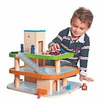 Woody háromszintes játékgarázs tartozékokkal, új dizájn, hang nélkül