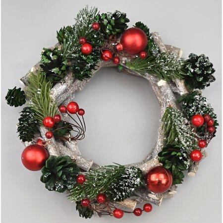 Vánoční věnec Green pine, pr. 22 cm