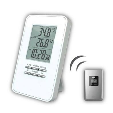 Solight bezdrátový teploměr, teplota, čas, budík