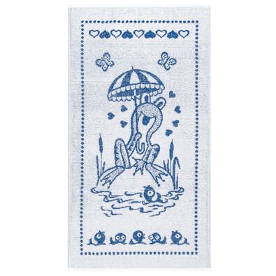 Dětský froté ručník Žabák, modrý, 45 x 75 cm