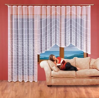 Hotová záclona Aneta, 350 x 160 cm, 200 x 250 cm