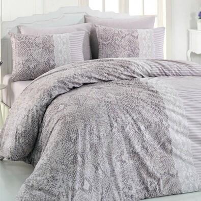 Bavlnené obliečky Costum sivá, 220 x 200 cm, 2x 70 x 90 cm