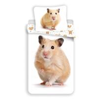 Lenjerie de pat, din bumbac, Hamster, 140 x 200 cm, 70 x 90 cm