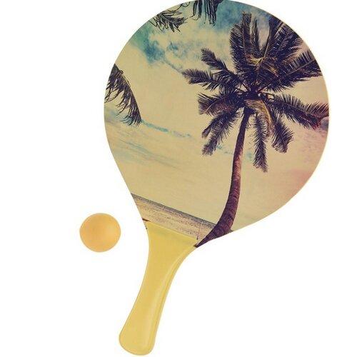 Set na plážový tenis Summer, žlutá