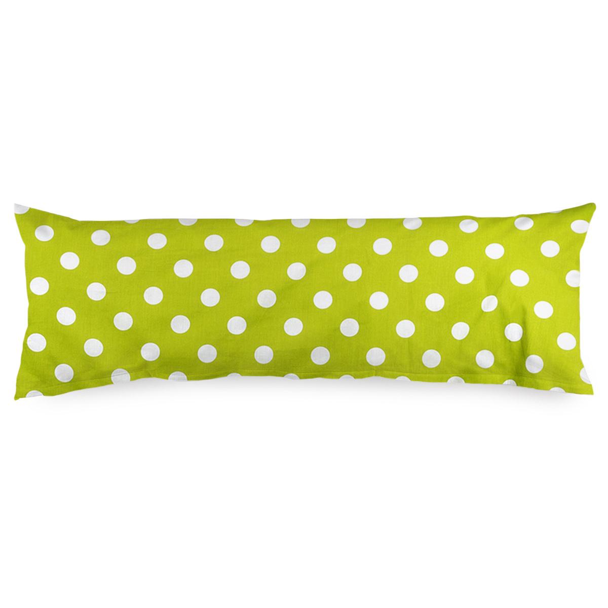 4Home Povlak na Relaxační polštář Náhradní manžel Zelený puntík, 55 x 180 cm