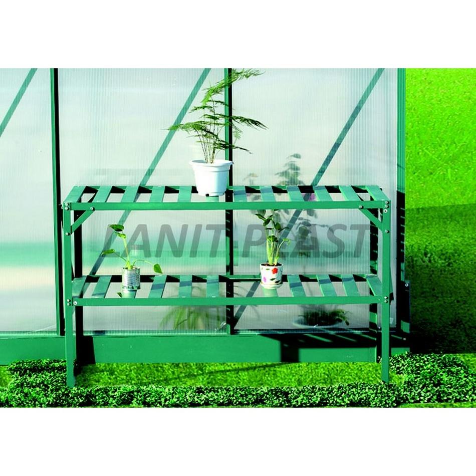 AL regál dvojpolicový zelený LanitGarden