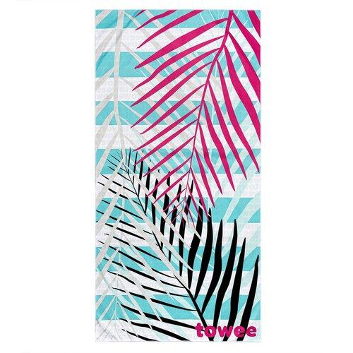 Towee Rychleschnoucí osuška PALMS PINK, 70 x 140 cm