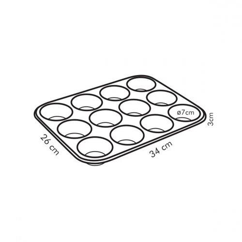 Tescoma DELÍCIA 12 muffin sütőforma, 34 x 26 cm