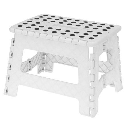 Koopman Skládací stolička bílá, 29 x 22 cm