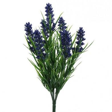 Umělá květina - levandule, fialová