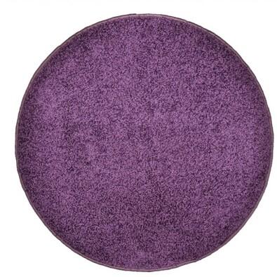 Kusový koberec Elite Shaggy fialová, průměr 120 cm