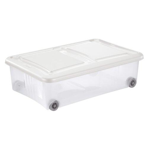 Tontarelli Úložný box s víkem Stockbox 28 l, transparentní/krémová