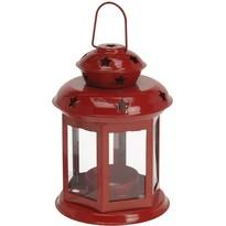 Koopman Lucerna na čajovou svíčku Tharsis červená, 14 cm