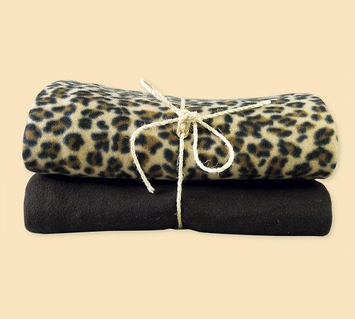 Fleecové deky, hnedá