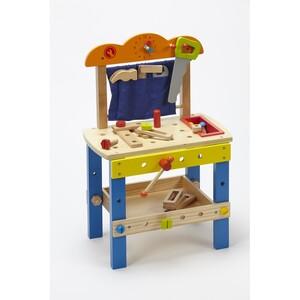 VOG Dřevěný dílenský stůl s příslušenstvím
