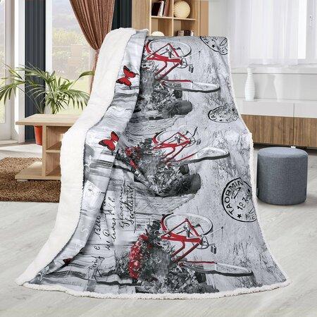 Pătură Bellatex imitație de blăniță Abela Romantica, 150 x 200 cm