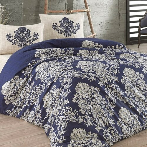 BedTex Bavlněné povlečení Estella modrá, 140 x 200 cm, 70 x 90 cm, 140 x 200 cm, 70 x 90 cm