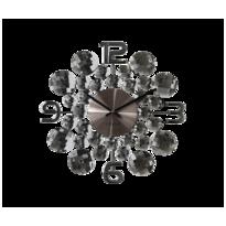 Nástenné hodiny Lavvu Crystal Jewel LCT1031  antracitová, pr. 34 cm