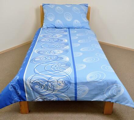 Bavlněné povlečení Noe, 140 x 200 cm, 70 x 90 cm, modrá, 140 x 200 cm, 70 x 90 cm
