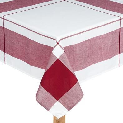 Ubrus kostka bordó, 140 x 180 cm