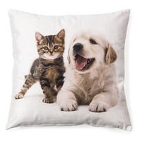 Poszewka na poduszkę Szczeniak i pręgowany kotek 5, 40 x 40 cm