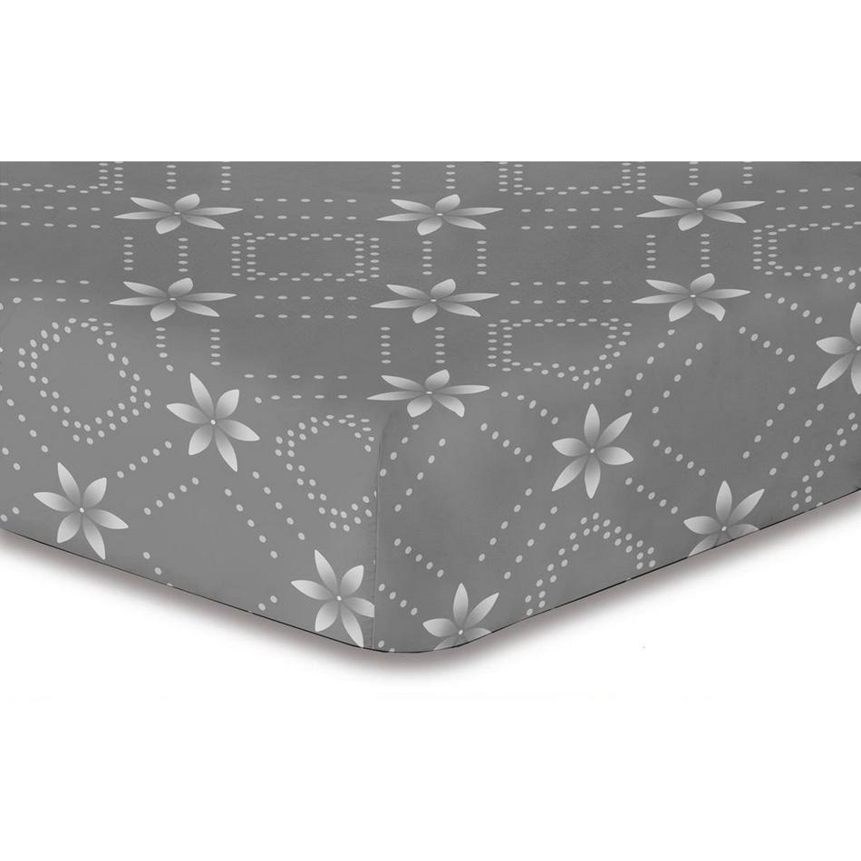 DecoKing Prestieradlo Snowynight sivá S1 mikrovlákno, 180 x 200 cm, 180 x 200 cm