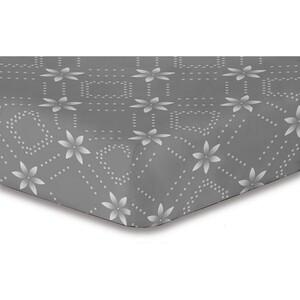 DecoKing Prostěradlo Snowynight šedá S1 mikrovlákno, 180 x 200 cm, 180 x 200 cm